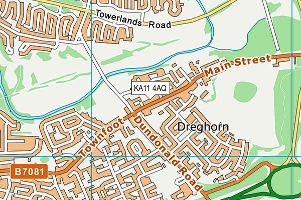 KA11 4AQ map - OS VectorMap District (Ordnance Survey)