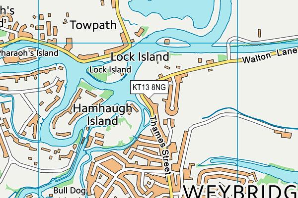 KT13 8NG map - OS VectorMap District (Ordnance Survey)