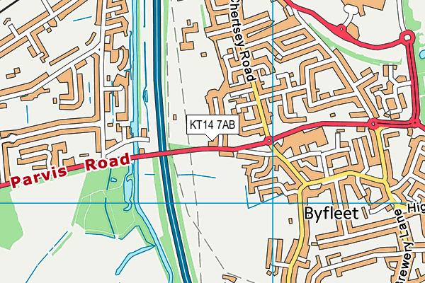 Byfleet Cricket Club map (KT14 7AB) - OS VectorMap District (Ordnance Survey)