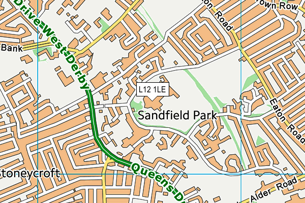 Runnymede St Edward's School map (L12 1LE) - OS VectorMap District (Ordnance Survey)