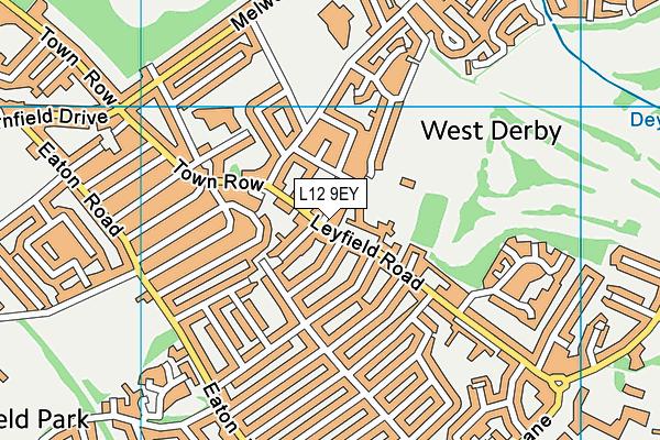 Blackmoor Park Infants' School map (L12 9EY) - OS VectorMap District (Ordnance Survey)