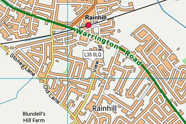 St Ann's Church of England Primary School map (L35 0LQ) - OS VectorMap District (Ordnance Survey)