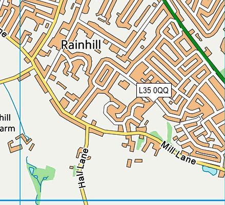 Oakdene Primary School map (L35 0QQ) - OS VectorMap District (Ordnance Survey)
