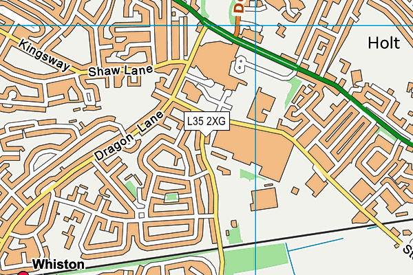 Saint Edmund Arrowsmith Catholic High School map (L35 2XG) - OS VectorMap District (Ordnance Survey)