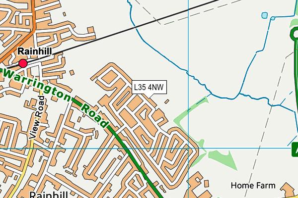 Rainhill Community Nursery map (L35 4NW) - OS VectorMap District (Ordnance Survey)