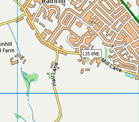 Tower College map (L35 6NE) - OS VectorMap District (Ordnance Survey)