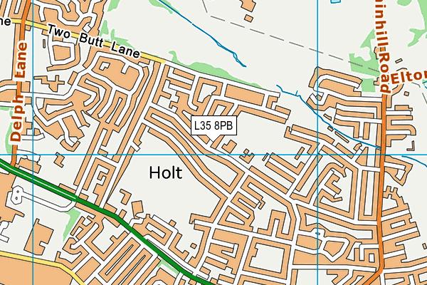Longton Lane Community Primary School map (L35 8PB) - OS VectorMap District (Ordnance Survey)
