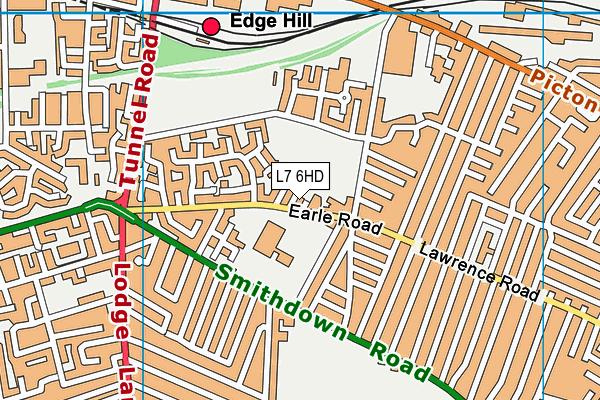 Chatham Place Nursery School Map L7 6hd Os Vectormap District Ordnance Survey