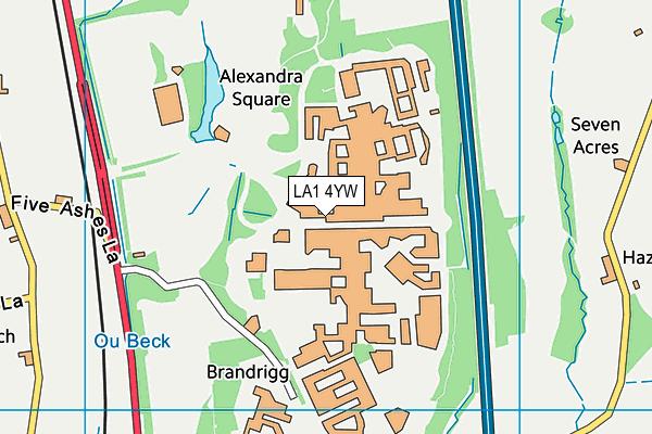 LA1 4YW map - OS VectorMap District (Ordnance Survey)