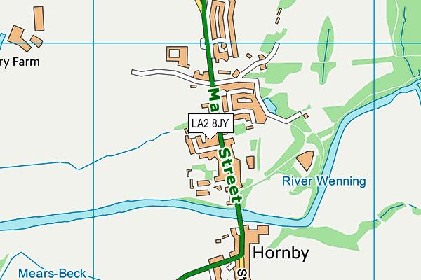 Hornby St Margaret's Church of England Primary School map (LA2 8JY) - OS VectorMap District (Ordnance Survey)