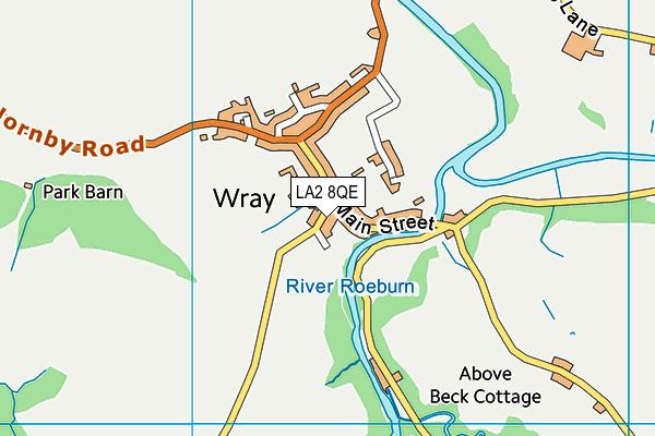 Wray with Botton Endowed Primary School map (LA2 8QE) - OS VectorMap District (Ordnance Survey)