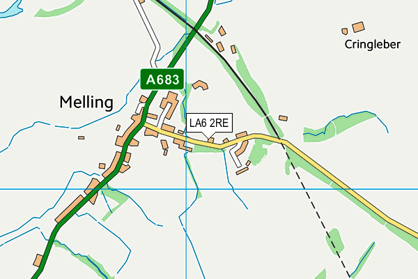 Melling St Wilfrid Church of England Primary School map (LA6 2RE) - OS VectorMap District (Ordnance Survey)