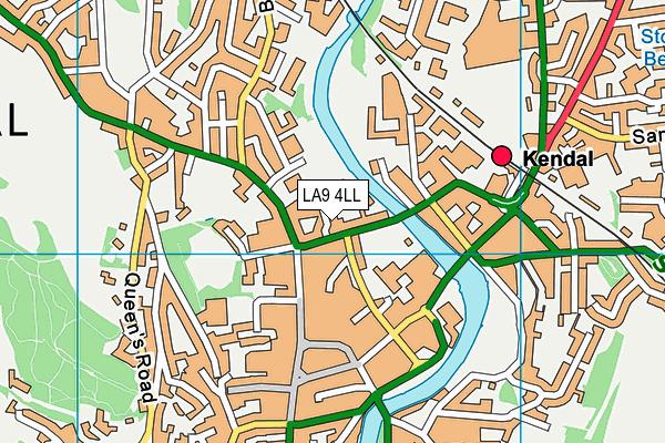 LA9 4LL map - OS VectorMap District (Ordnance Survey)