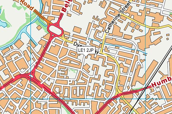 Taylor Road Primary School map (LE1 2JP) - OS VectorMap District (Ordnance Survey)