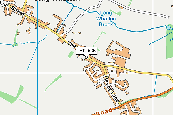 Long Whatton Church of England Primary School and Community Centre map (LE12 5DB) - OS VectorMap District (Ordnance Survey)