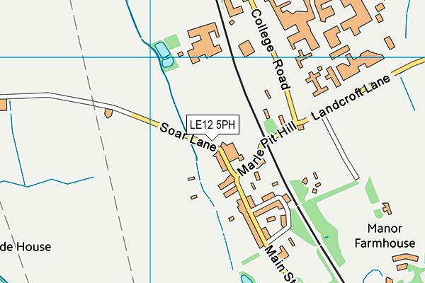 LE12 5PH map - OS VectorMap District (Ordnance Survey)
