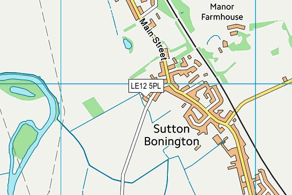 Sutton Bonington Playing Fields map (LE12 5PL) - OS VectorMap District (Ordnance Survey)