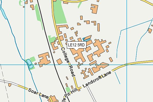 University Of Nottingham (Sutton Bonington Sports Centre) map (LE12 5RD) - OS VectorMap District (Ordnance Survey)