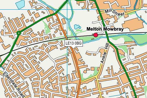 Waterfield Leisure Centre map (LE13 0BG) - OS VectorMap District (Ordnance Survey)