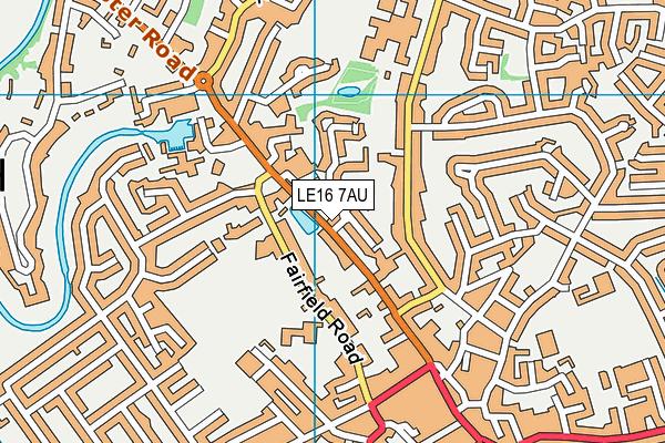 Brooke House College map (LE16 7AU) - OS VectorMap District (Ordnance Survey)