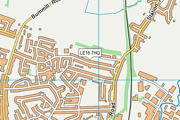 Ridgeway Primary Academy map (LE16 7HQ) - OS VectorMap District (Ordnance Survey)