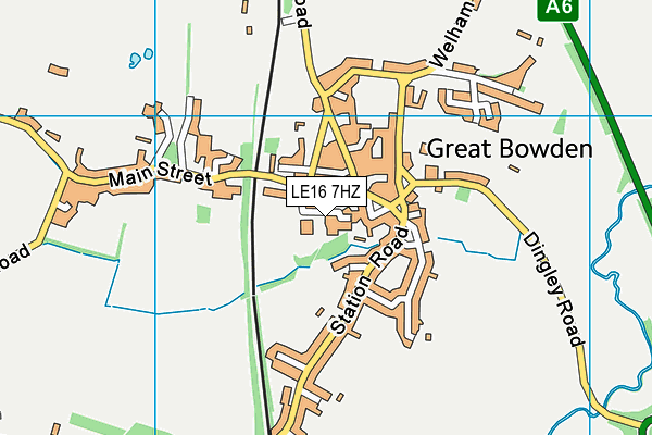 Great Bowden Academy, A Church of England Primary School map (LE16 7HZ) - OS VectorMap District (Ordnance Survey)