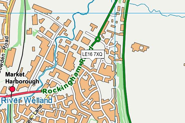 LE16 7XQ map - OS VectorMap District (Ordnance Survey)