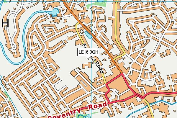 Market Harborough Church of England Academy map (LE16 9QH) - OS VectorMap District (Ordnance Survey)