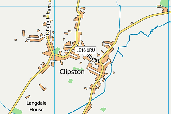 Clipston Endowed Voluntary Controlled Primary School map (LE16 9RU) - OS VectorMap District (Ordnance Survey)