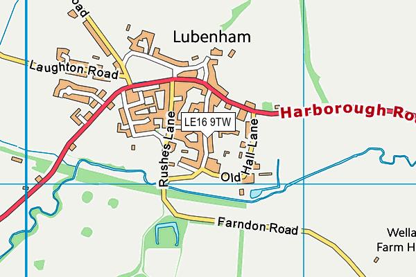 Lubenham All Saints Church of England Primary School map (LE16 9TW) - OS VectorMap District (Ordnance Survey)