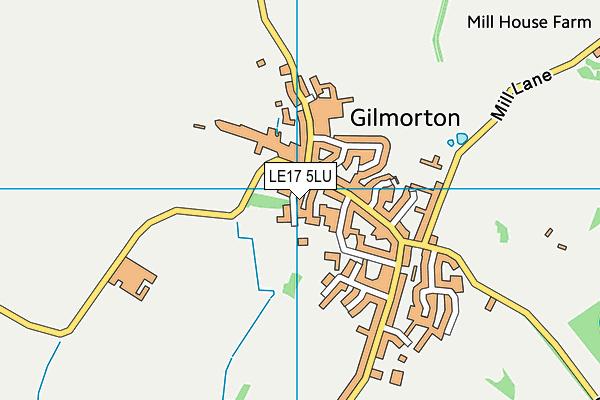 Gilmorton Chandler Church of England Primary School map (LE17 5LU) - OS VectorMap District (Ordnance Survey)