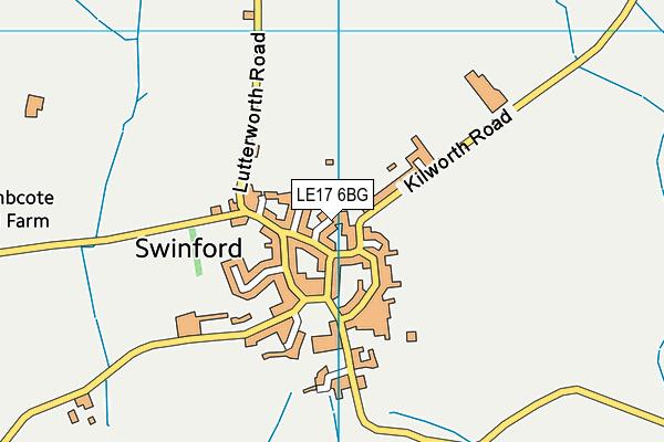 Swinford Church of England Primary School map (LE17 6BG) - OS VectorMap District (Ordnance Survey)