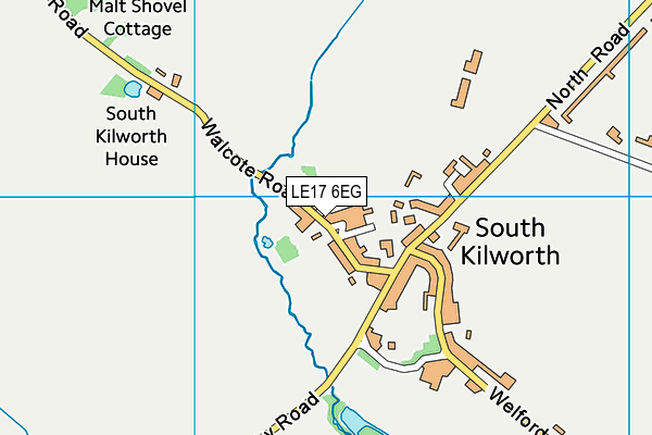 South Kilworth Church of England Primary School map (LE17 6EG) - OS VectorMap District (Ordnance Survey)