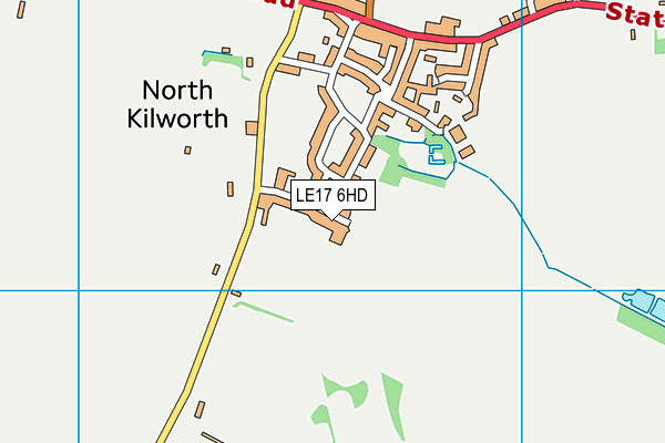 St Andrew's Church of England Primary School, North Kilworth map (LE17 6HD) - OS VectorMap District (Ordnance Survey)