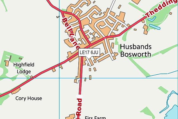LE17 6JU map - OS VectorMap District (Ordnance Survey)
