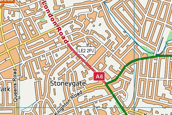Leicester Islamic Academy map (LE2 2PJ) - OS VectorMap District (Ordnance Survey)