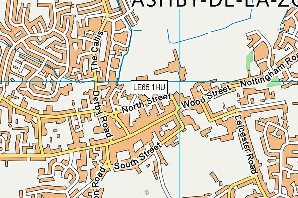Hood Park Leisure Centre map (LE65 1HU) - OS VectorMap District (Ordnance Survey)