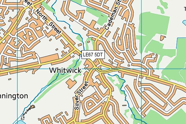 LE67 5DT map - OS VectorMap District (Ordnance Survey)