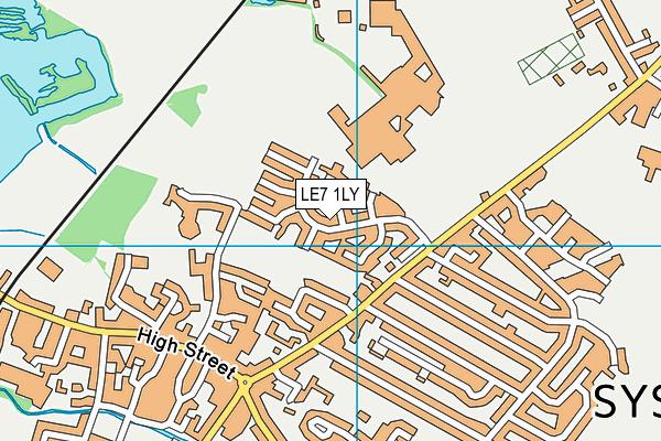 South Charnwood Leisure Centre map (LE7 1LY) - OS VectorMap District (Ordnance Survey)