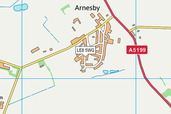 Arnesby Church of England Primary School map (LE8 5WG) - OS VectorMap District (Ordnance Survey)