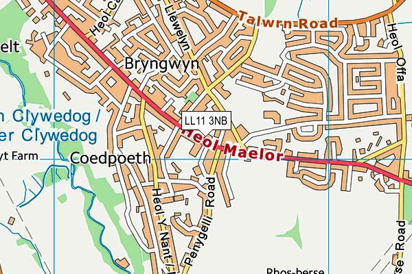 Ysgol Bryn Tabor map (LL11 3NB) - OS VectorMap District (Ordnance Survey)