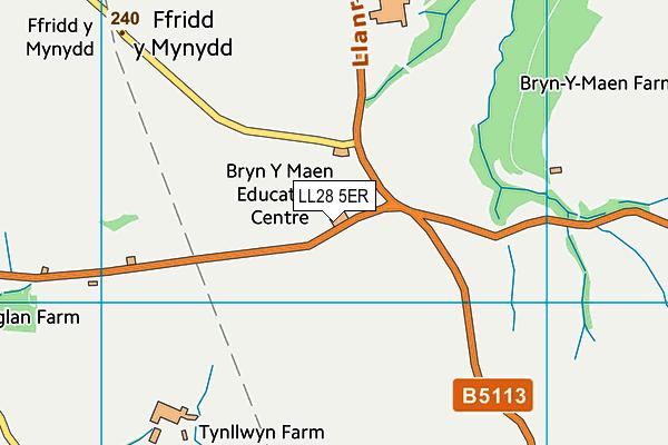 LL28 5ER map - OS VectorMap District (Ordnance Survey)