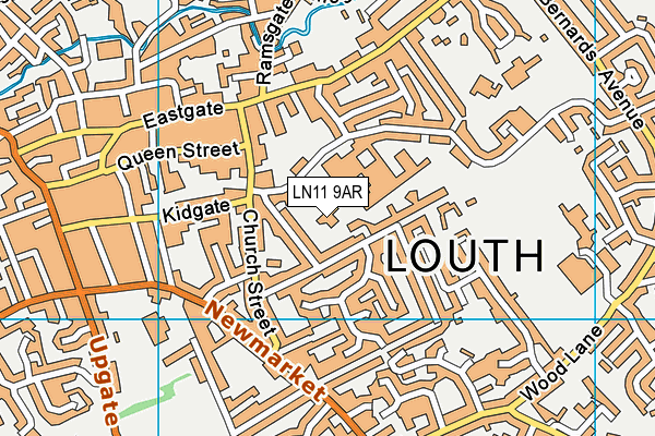 St Michael's Church of England School, Louth map (LN11 9AR) - OS VectorMap District (Ordnance Survey)