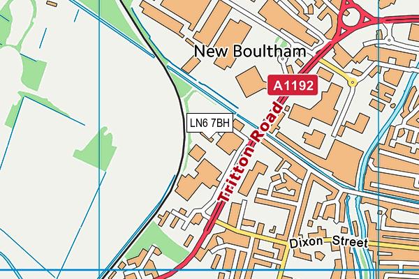 Better Gym Lincoln map (LN6 7BH) - OS VectorMap District (Ordnance Survey)