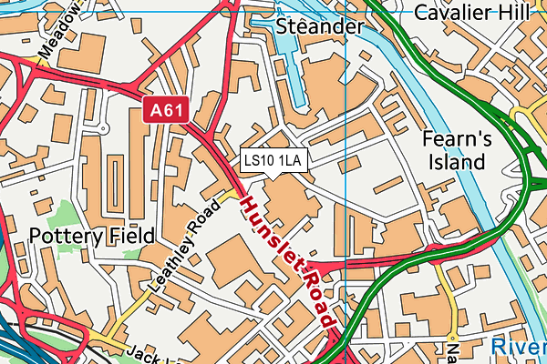University Technical College Leeds map (LS10 1LA) - OS VectorMap District (Ordnance Survey)