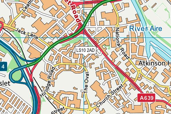 St Joseph's Catholic Primary School, Hunslet map (LS10 2AD) - OS VectorMap District (Ordnance Survey)