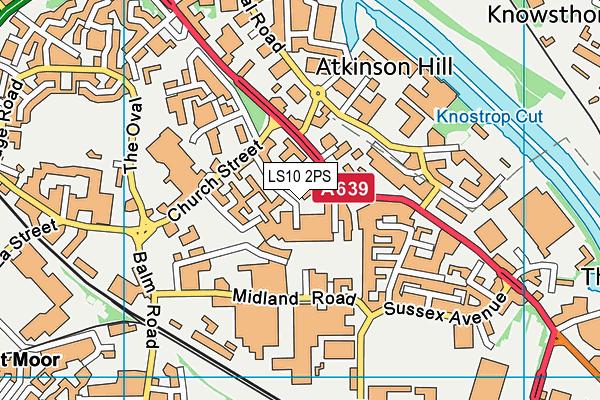 Low Road Primary School map (LS10 2PS) - OS VectorMap District (Ordnance Survey)
