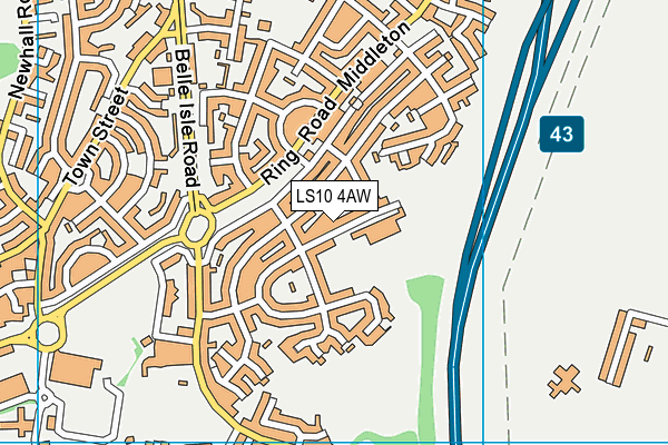 Clapgate Primary School map (LS10 4AW) - OS VectorMap District (Ordnance Survey)