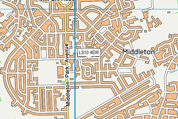 LS10 4EW map - OS VectorMap District (Ordnance Survey)