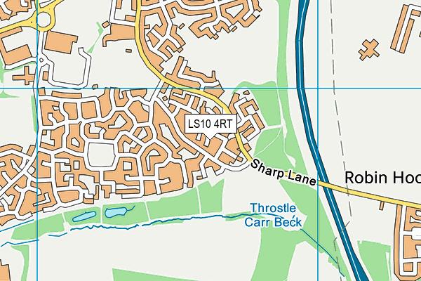 LS10 4RT map - OS VectorMap District (Ordnance Survey)